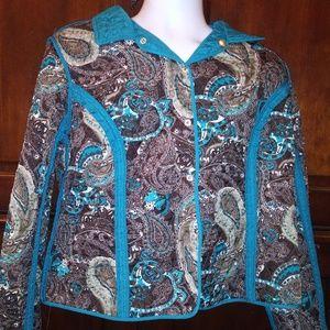 Kim Rodgers Women's Teal Petite Puff Jacket